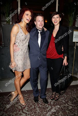 Press Night Afterparty For 'Flashdance' at the Waldorf Hotel Aldwych Twinnie Lee Moore Nikolai Foster and Emma Griffiths