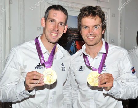 Olympic Party at Maison De Monaco Haymarket Etienne Stott and Tim Baillie (gold Medal Winners in Canoe Double at the London 2012 Olympics)