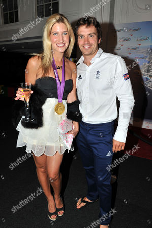 Stock Photo of Olympic Party at Maison De Monaco Haymarket Cheska Hull with Tim Baillie (gold Medal Winner in Canoe Double)