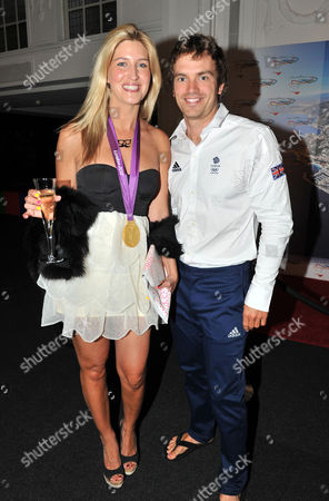 Olympic Party at Maison De Monaco Haymarket Cheska Hull with Tim Baillie (gold Medal Winner in Canoe Double)