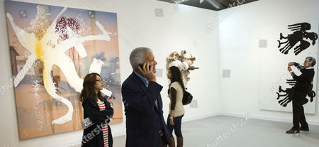 Private View at the Frieze Art Fair in Regents Park London Larry Gagosian