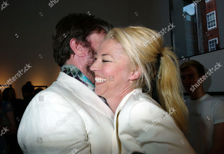 Private View of Herb Ritts by Herb Ritts at Hamiltons Gallery Carlos Place London Simon Le Bon & Tamara Bethwith