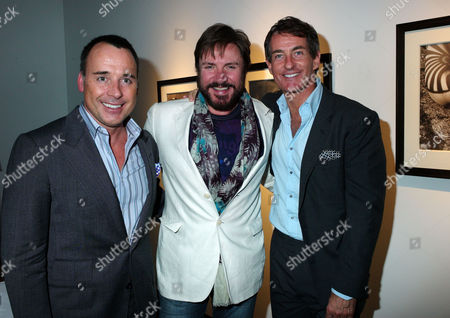 Private View of Herb Ritts by Herb Ritts at Hamiltons Gallery Carlos Place London David Furnish Simon Le Bon & Tim Jefferies