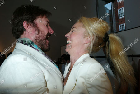 Stock Picture of Private View of Herb Ritts by Herb Ritts at Hamiltons Gallery Carlos Place London Simon Le Bon & Tamara Bethwith