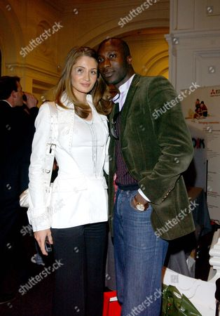 Private Viewing of 'Photo-london' at the Royal Academy of Arts Oswald Boateng with His Wife