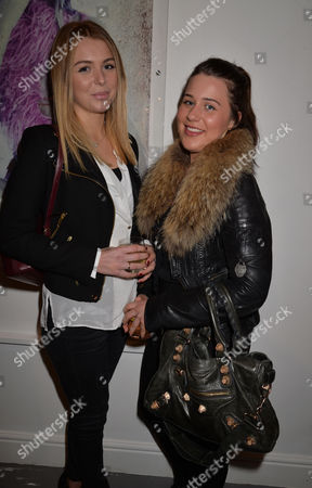 Proudlock's Carnival '78 Exhibition Private View at Imitate Modern Devonshire Street Marylebone London Chantelle Pidgley with Her Sister