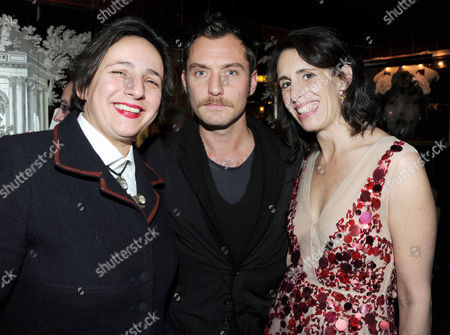 Publication Party For the Book 'A Life in Fashion' by Lauren Goldstein Crowe in the Fumoir Claridge's Hotel Selina Blow Jude Law and the Author Lauren Goldstein Crowe
