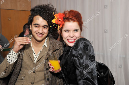 Reception at St Martins Lane Hotel Before the English National Ballet's Performance of the Nutcracker at the Coliseum Paloma Faith with Her Boyfriend Josh Weller