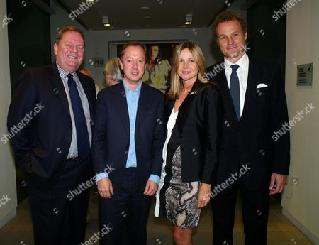 Saatchi and Saatchi Join with M&c Saatchi to Celebrate the 40th Anniversary of the Founding of the Agency at the Saatchi Gallery Chelsea Peter Wright (editor Mail On Sunday) Geordie Greig (editor Evening Standard) with Lord Jonathan and Lady Claudia Rothermere