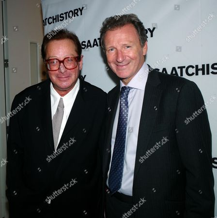 Saatchi and Saatchi Join with M&c Saatchi to Celebrate the 40th Anniversary of the Founding of the Agency at the Saatchi Gallery Chelsea Sir Gus O'donnell and Lord Maurice Saatchi
