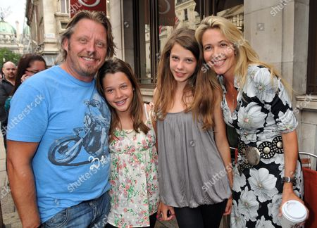 A Special Screening of Walt Disney Studios Motion Pictures 'The Sorcerer's Apprentice' at Cineworld Haymarket London Charlie Boorman and His Wife Olivia and Daughters Doone 14 and Kinvara 13