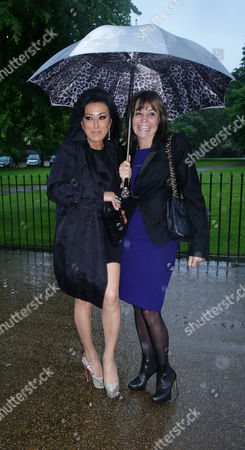 Serpentine Gallery Pavilion 2012 Private View at Kensington Gardens London Nancy Dell'olio & Carole Siller