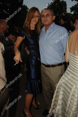 Serpentine Gallery Summer Party at Kensington Park Gardens Trinny Woodall with Her Husband Johnny Elichaoff