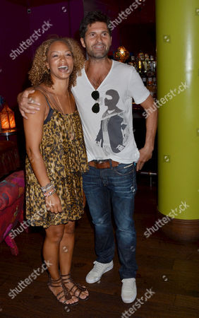 Smurfs 3d Gala Premiere and Tea Party at the Soho Hotel Angela Griffin with Her Husband Jason Milligan