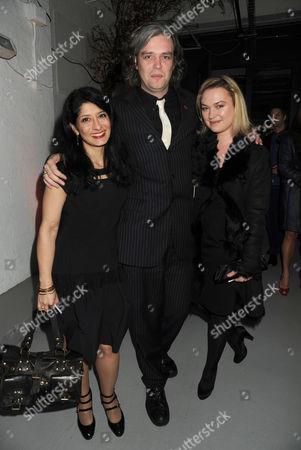 Soho Theatre Fundraising Gala at the Vinyl Factory Marshall Street Shappi Khorsandi Steve Marmion and Sophia Myles
