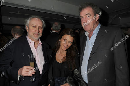 Stock Image of Soho Theatre Fundraising Gala at the Vinyl Factory Marshall Street Nick Allott His Wife Christa D'souza and Jeremy Clarkson