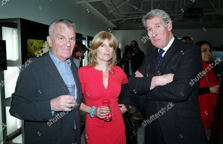 Sunday Times Magazine 50th Anniversary Exhibition Private View at the Saatchi Gallery Lord Matthew Evans Rachel Johnson and Jeremy Paxman