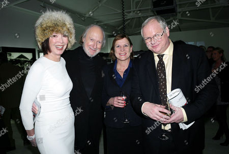 Sunday Times Magazine 50th Anniversary Exhibition Private View at the Saatchi Gallery Ed Victor with His Wife Carol and Adam Boulton with His Wife Anji Hunter