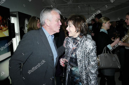 Sunday Times Magazine 50th Anniversary Exhibition Private View at the Saatchi Gallery Lord Matthew Evans and Marjorie Wallace