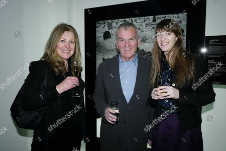 Sunday Times Magazine 50th Anniversary Exhibition Private View at the Saatchi Gallery Ruth Findlay Lord Matthew Evans & Jeanette Ward
