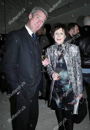 Sunday Times Magazine 50th Anniversary Exhibition Private View at the Saatchi Gallery Jeremy Paxman and Marjorie Wallace