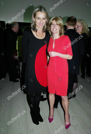 Sunday Times Magazine 50th Anniversary Exhibition Private View at the Saatchi Gallery Daisy Waugh and Rachel Johnson
