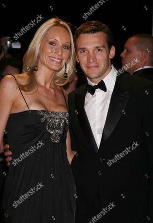 Andriy Shevchenko with His Wife Kristen Pazik