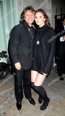 Stock Image of Tatler Little Black Book Party at Tramp Nightclub Mayfair Leon Max and Antalya Nall-cain
