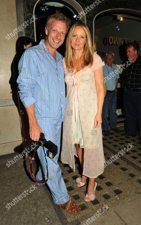 Tatler Pyjama Party at Claridge's Hotel Mayfair London Hugo Burnand with Tatler Editor Kate Reardon
