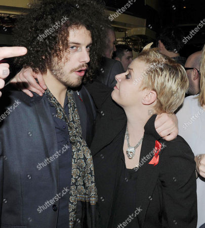 Terrence Higgins Trust Supper Club at the Cafe De Paris Coventry Street Gail Porter with Her Boyfriend Jonny Davies