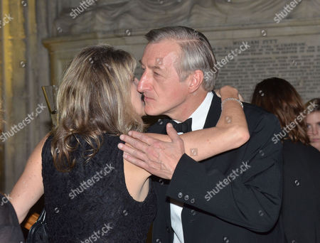 The 2011 Man Booker Prize For Fiction at the Guildhall City of London This Year's Winner Julian Barnes with Amanda Ross