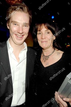 2006 Laurence Olivier Theatre Awards at the Park Lane Hilton Hotel Benedict Cumberbatch with Lady Eyre (sue Birtwistle)