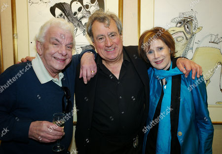 John Cleese Art Collection Private View at the Chris Beetles Gallery Mayfair Barry Took Terry Jones and Marjorie Wallace