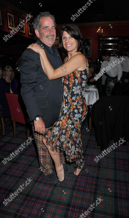 The Johnny Walker Blue Label Great Scot Awards 2011 at Boisdale of Canary Wharf Sam Torrance & His Wife Suzanne Danielle