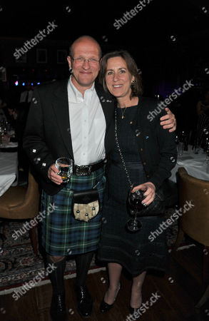 The Johnny Walker Blue Label Great Scot Awards 2011 at Boisdale of Canary Wharf Kirsty Wark with Her Husband Alan Clements