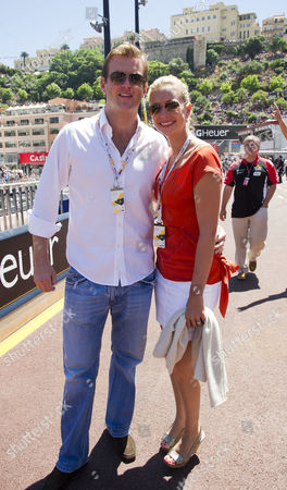 The Monaco Grand Prix Held in Monte Carlo Race Day Holly Branson and FiancŽ Fred Andrews