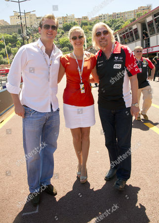 The Monaco Grand Prix Held in Monte Carlo Race Day Holly Branson and FiancŽ Fred Andrews and Her Father Sir Richard Branson