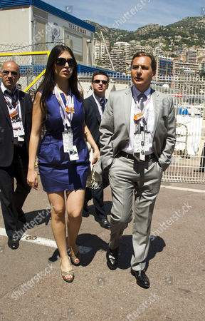 The Monaco Grand Prix Held in Monte Carlo Race Day French Industry Minister Eric Besson and His Wife Yasmine Tordjman