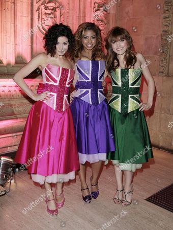 the National Television Awards at the Royal Albert Hall Britannia High; Sapphire Elia Rana Roy and Georgina Hagen