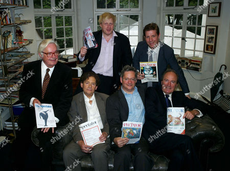 The Spectator Magazine Summer Party at Their Offices at Old Queen Street Westminster London Editors of the Spectator Magazine Alexander Chancellor 1975–1984 Nigel Lawson 1966–1970 Dominic Lawson 1990–1995 Charles Moore 1984–1990 Boris Johnson 1999–2005 & Fraser Nelson 2009–present