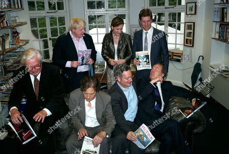 The Spectator Magazine Summer Party at Their Offices at Old Queen Street Westminster London Editors of the Spectator Magazine Alexander Chancellor 1975–1984 Nigel Lawson 1966–1970 Dominic Lawson 1990–1995 Charles Moore 1984–1990 Boris Johnson 1999–2005 Taki Theodoracopulos & Fraser Nelson 2009–present