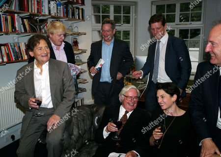 Stock Picture of The Spectator Magazine Summer Party at Their Offices at Old Queen Street Westminster London Editors of the Spectator Magazine Alexander Chancellor 1975–1984 Nigel Lawson 1966–1970 Dominic Lawson 1990–1995 Charles Moore 1984–1990 Boris Johnson 1999–2005 Taki Theodoracopulos & Fraser Nelson 2009–present