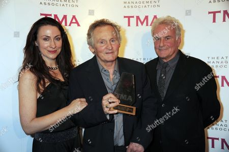 The Theatrical Management Association Theatre Awards at the Lyric Hammersmith Max Stafford-clark with His Wife Stella Feehily and Sir Richard Eyre