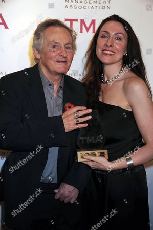 The Theatrical Management Association Theatre Awards at the Lyric Hammersmith Max Stafford-clark with His Wife Stella Feehily