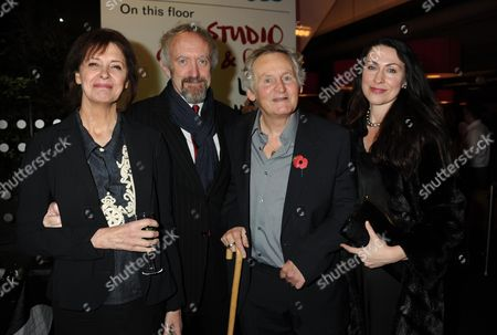 The Theatrical Management Association Theatre Awards at the Lyric Hammersmith Kate Fahey and Her Husband Jonathan Pryce with Max Stafford-clark and His Wife Stella Feehily