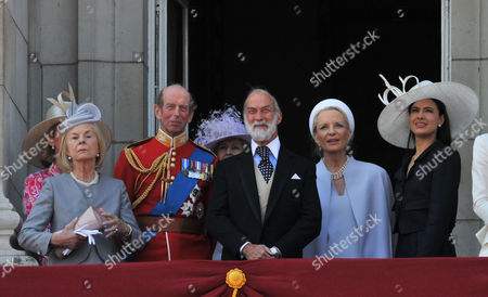 Stock Photo of Trooping of the Colour - Balcony Scenes Katharine Duchess of Kent Julia Ogilvy Prince Edward Duke of Kent Prince and Princess Michael of Kent Sophie Winkleman Lady Windsor