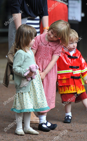Stock Image of Trooping of the Colour - Outside Clarence House Eliza Lopes Waits to See Her Grandmother (l)