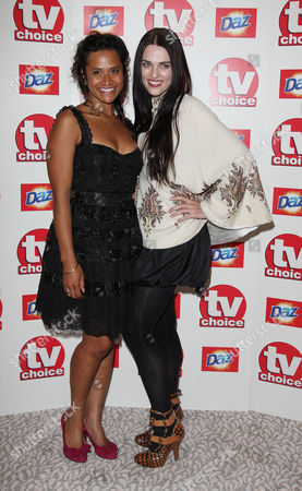 Tv Choice Awards Arrivals at the Dorchester Hotel Angel Coulby and Katie Mcgrath