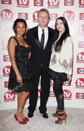 Tv Choice Awards Arrivals at the Dorchester Hotel Angel Coulby Anthony Head and Katie Mcgrath