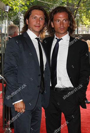Uk Premiere For 'The Expendables' at the Odeon Leicester Square Michele and Manuele Malenotti (belstaff)